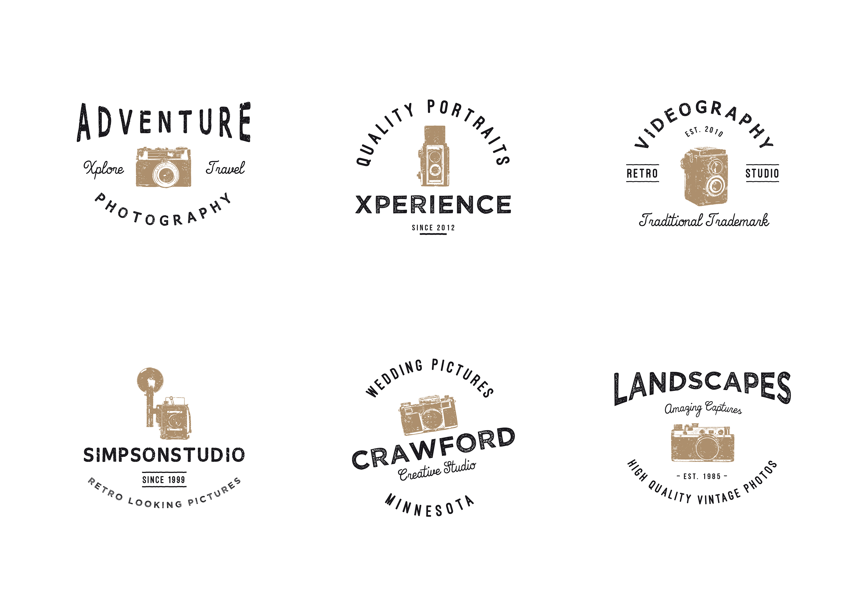 vintage-photography-logo-collection